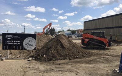 Breaking Ground on Killam's new Co-Op Liquor Store