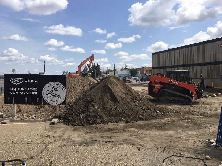 Killam Co-Op Liquor Store Breaking Ground